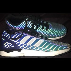 09b1c35e1 adidas Shoes - Adidas Blue Green Black Zx Flux Xeno Flux Shock